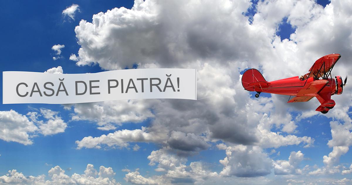 Sky banner! Mesajul tau pe cer in Piatra Neamt
