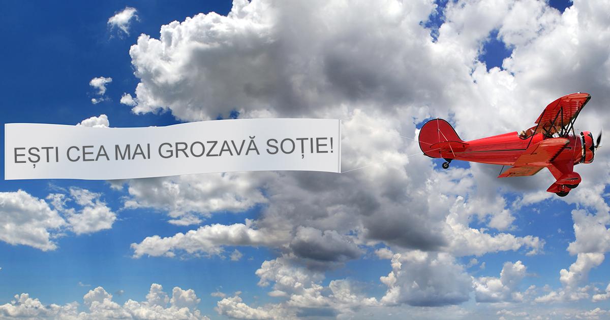 Sky banner! Mesajul tau pe cer in Bistrita