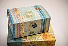 Cutie de lemn pictata manual si personalizata 22cm/18cm/11cm