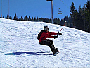 Lectie de initiere in snowboard in Arieseni